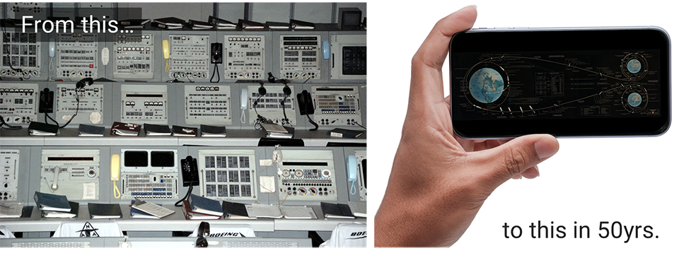 Data advancements, from mission control to iphone